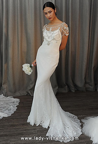Весільну сукню рибка з шлейфом - Badgley Mischka