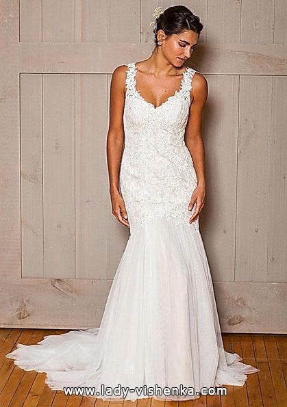 Весільну сукню русалонька зі шлейфом - david's Bridal