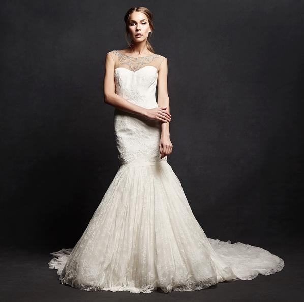Весільну сукню рибка з шлейфом - Isabelle Armstrong