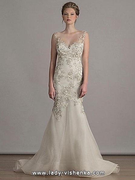 Весільну сукню рибка з шлейфом - Liancarlo