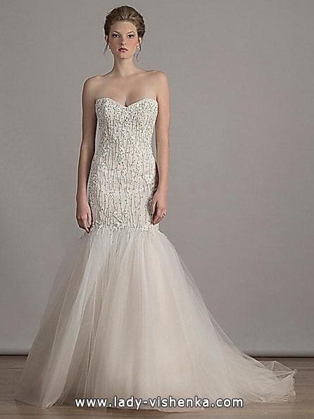 Весільну сукню русалонька зі шлейфом - Liancarlo