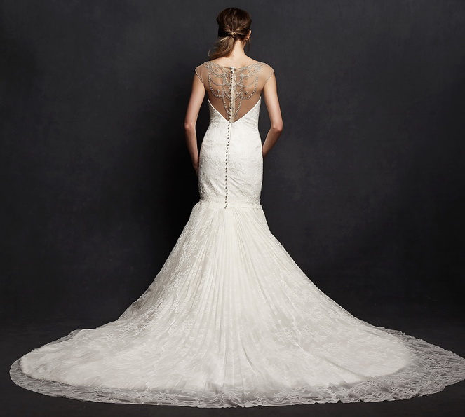 Спина весільного плаття рибка з шлейфом - Isabelle Armstrong