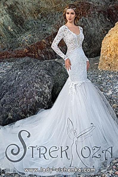 Весільну сукню русалонька зі шлейфом - Strekoza