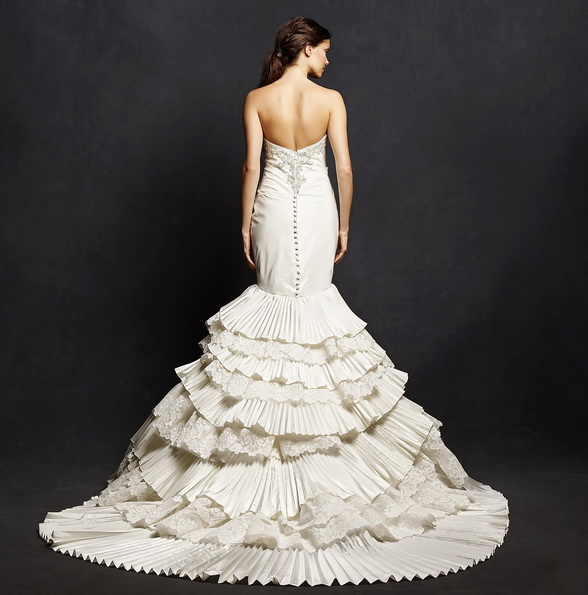 Красиве весільне плаття рибка з шлейфом - Isabelle Armstrong