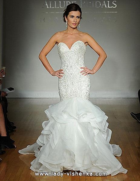 Весільну сукню рибка з шлейфом - Allure