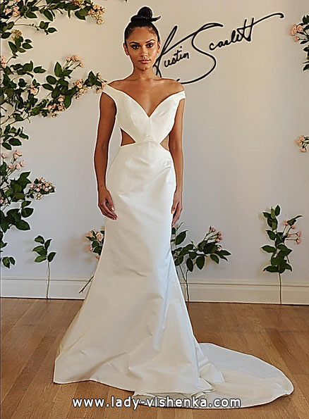 Весільну сукню риб'ячий хвіст зі шлейфом - Austin Scarlett