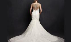 Весільна сукня рибка з шлейфом