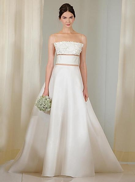 Весільну сукню з атласною спідницею Angel Sanchez 2016