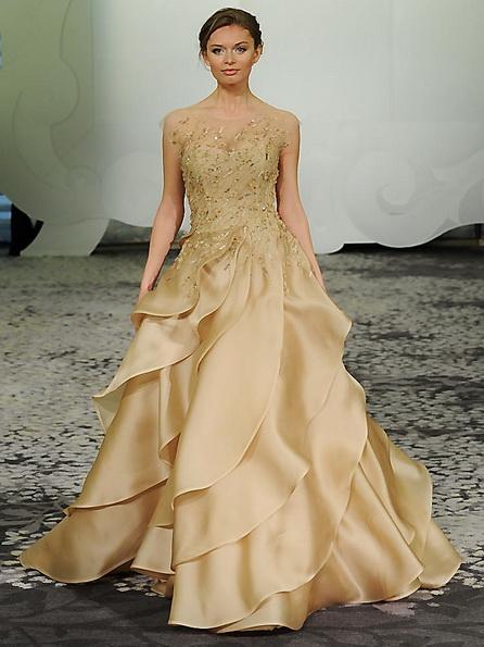 Весільну сукню з атласною спідницею Rivini 2016