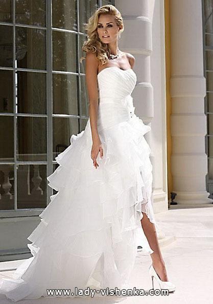 Красиве весільне плаття короткий спереду 2016 - Lady Bird