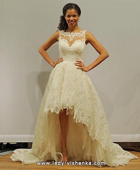 Весільну сукню короткий спереду ззаду шлейф 2016 - Paloma Blanca