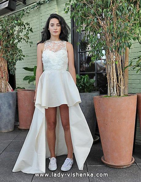 Просте весільну сукню короткий спереду 2016 - Sarah Seven