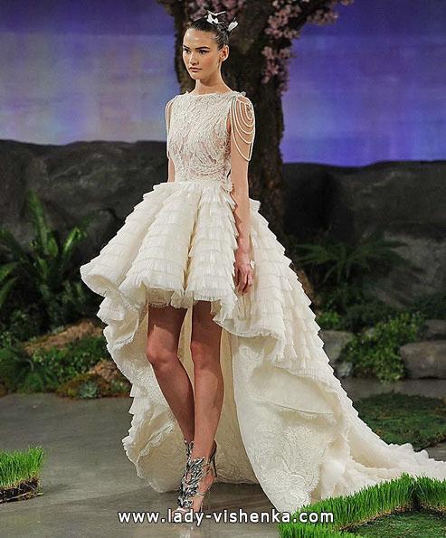 Пишне весільне плаття короткий спереду 2016 - Ines Di Santo