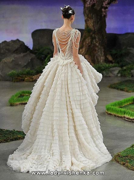 Пишне весільне плаття короткий спереду з шлефом 2016 - Ines Di Santo