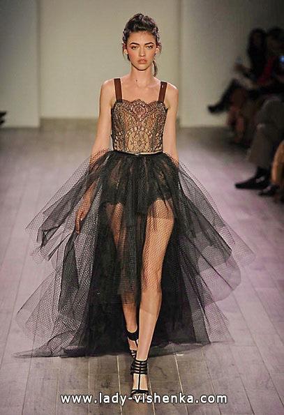 Чорне весільне плаття короткий спереду 2016 - Hayley Paige