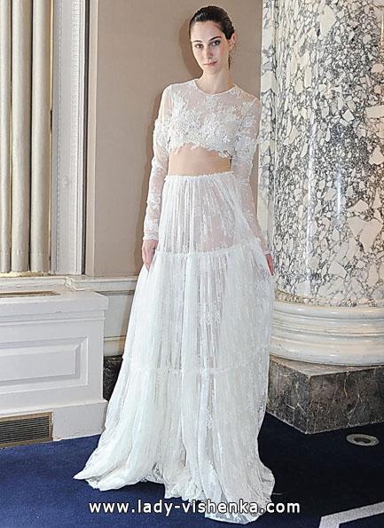 Весільні сукні з мереживними рукавами - Christos Costarellos