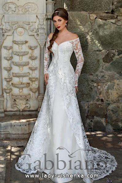Весільні сукні з мереживними рукавами - Gabbiano