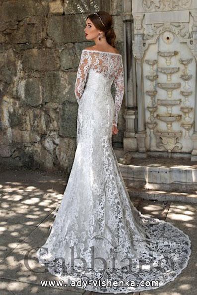 Весільні сукні з мереживними рукавами 2016 - Gabbiano