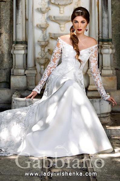 Весільні сукні з мереживними рукавами фото - Gabbiano
