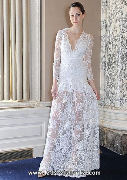 Весільні сукні з мереживними рукавами 2016 - Christos Costarellos