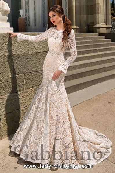 Мереживні весільні сукні з довгим рукавом - Gabbiano