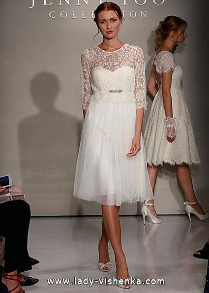 Весільні сукні з мереживними рукавами - Jenny Yoo
