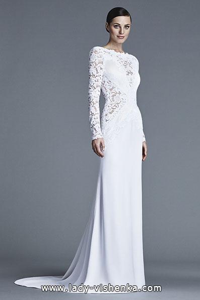 Весільні сукні з мереживними рукавами - J Mendel