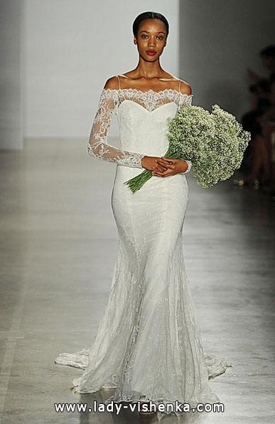 Весільні сукні з мереживними рукавами - Christos
