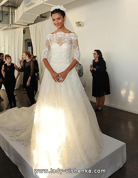 Весільні сукні з мереживними рукавами - Marchesa
