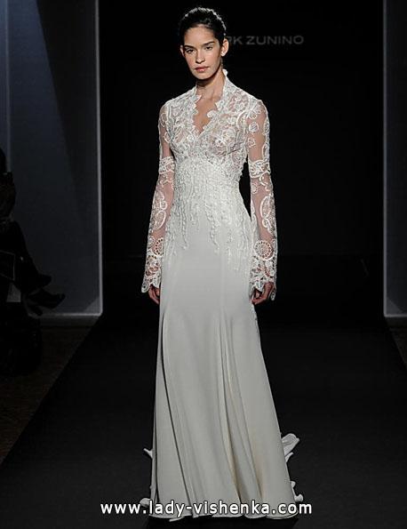 Весільні сукні з мереживними рукавами - Mark Zunino