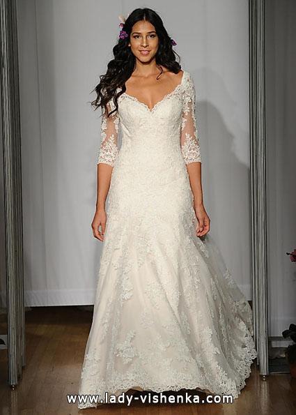 Весільні сукні з мереживними рукавами - Mori Lee