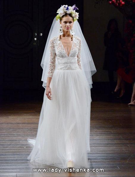 Весільні сукні з мереживними рукавами - Naeem Khan
