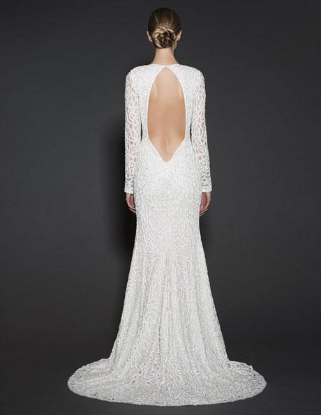 Весільні сукні з мереживними рукавами 2016 - Naeem Khan