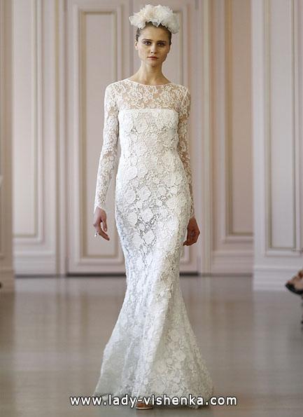 Весільні сукні з мереживними рукавами - Oscar De La Renta