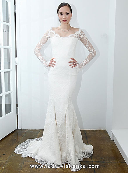Весільні сукні з мереживними рукавами - Pamella Roland