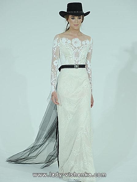Весільні сукні з мереживними рукавами - Claire Pettibone