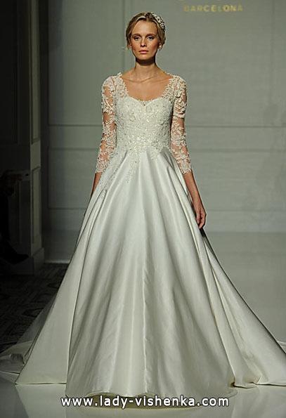 Весільні сукні з мереживними рукавами фото - Pronovias