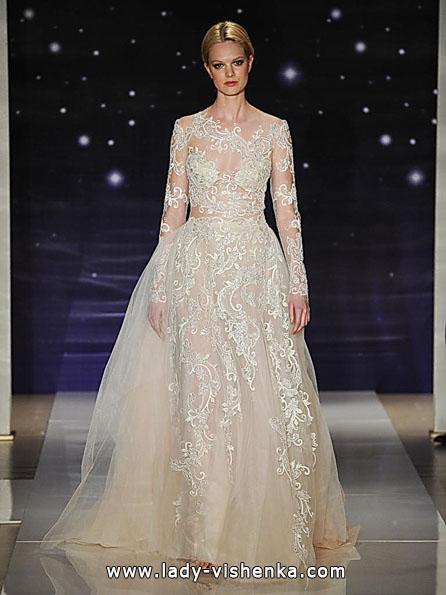 Весільні сукні з мереживними рукавами фото - Reem Acra