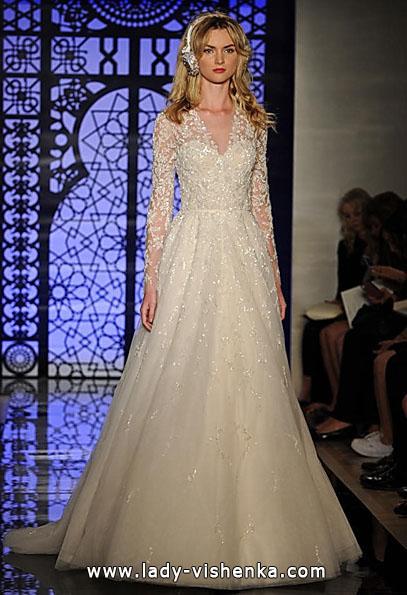 Весільні сукні з мереживними рукавами - Reem Acra