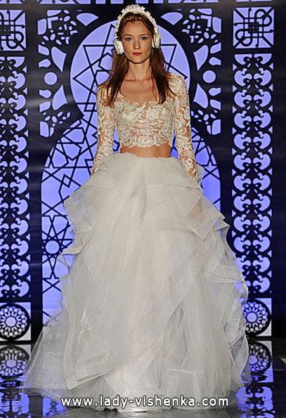 Весільні сукні з мереживними рукавами 2016 - Reem Acra