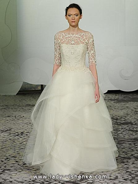Весільні сукні з мереживними рукавами - Rivini
