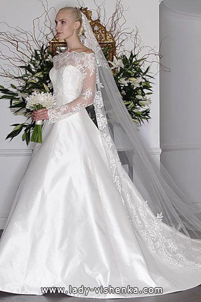 Весільні сукні з мереживними рукавами - Romona Keveza