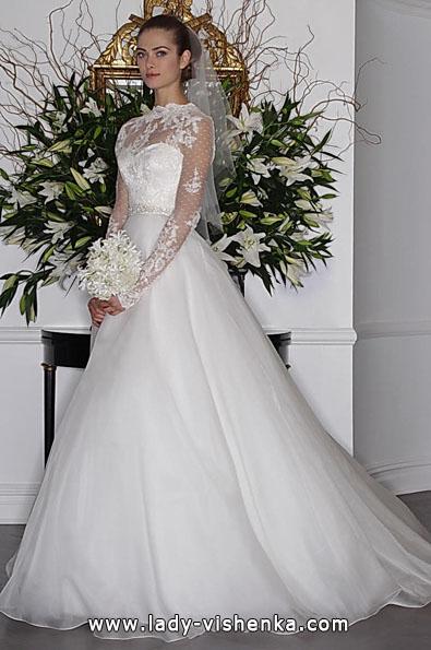 Весільні сукні з мереживними рукавами 2016 - Romona Keveza