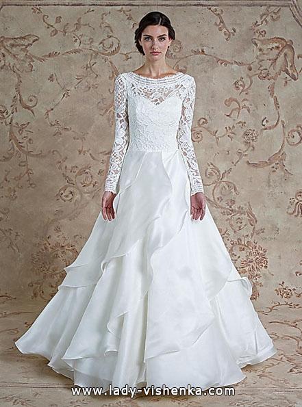 Весільні сукні з мереживними рукавами - Sareh Nouri