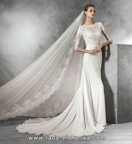 Весільні сукні з мереживними рукавами фото 2016 - Pronovias