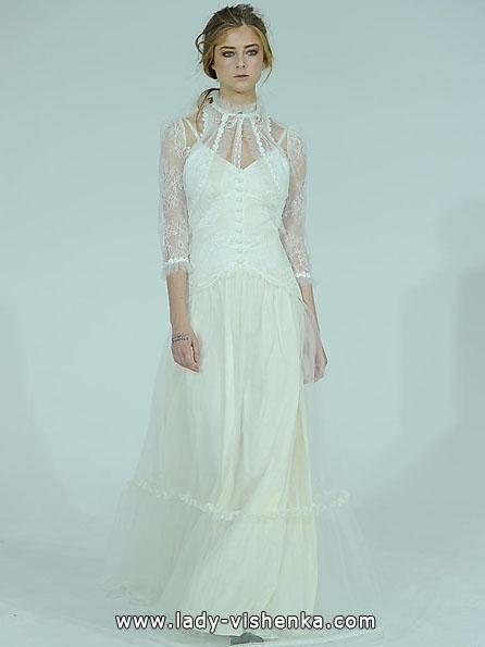 Весільні сукні з мереживними рукавами фото - Claire Pettibone