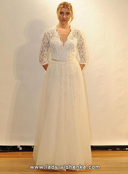 Весільні сукні з мереживними рукавами - Val Stefani