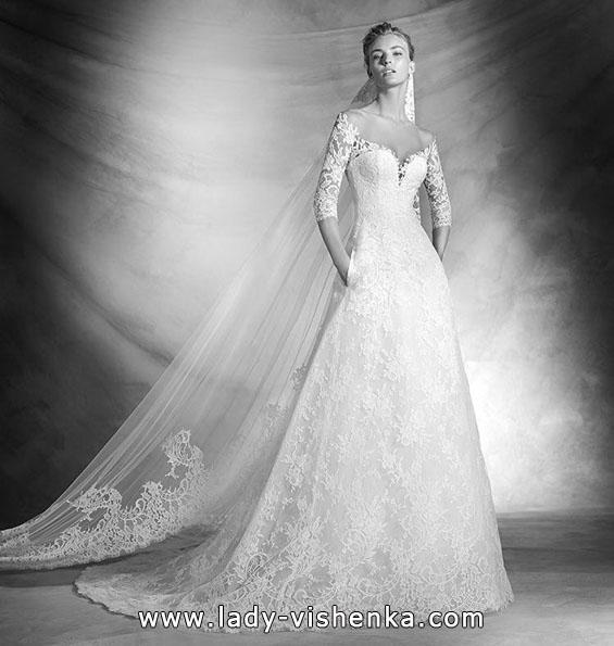 Весільні сукні з мереживними рукавами 2016 - Pronovias