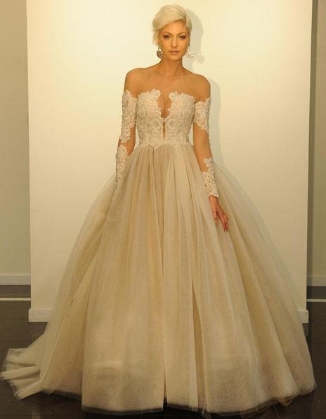 Весільні сукні з мереживними рукавами - Victor Harper