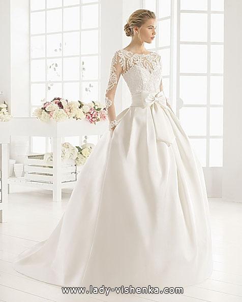 Весільні сукні з мереживними рукавами фото - Aire Barcelona
